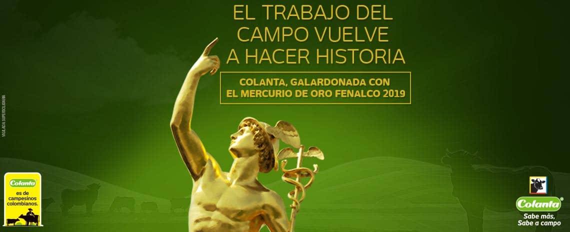 "Colanta recibe la distinción ""Mercurio de Oro"" de Fenalco Antioquia"
