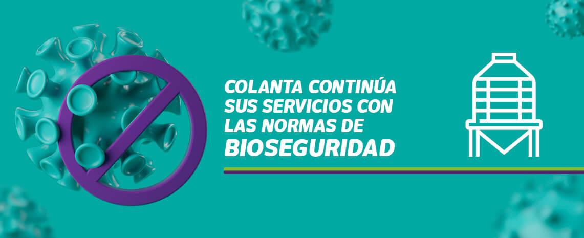 Colanta continúa sus servicios con las normas de bioseguridad