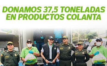 donamos 37.5 toneladas de alimentos