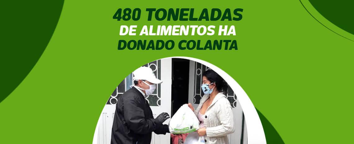 480 toneladas de alimentos ha donado Colanta