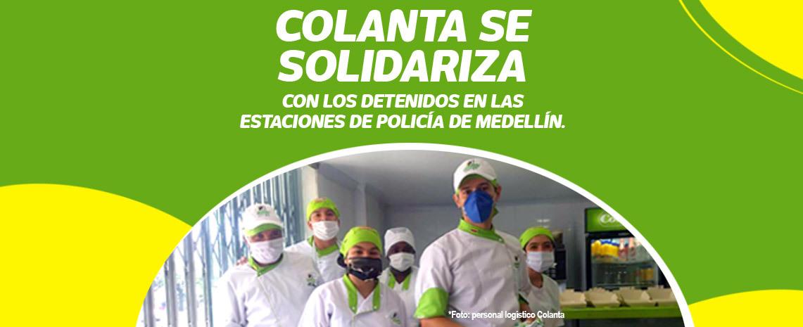 Colanta se solidarizó con los detenidos en las estaciones de Policía de Medellín