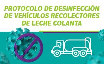 desinfección de vehículos protocolo para vehículos recolectores colanta