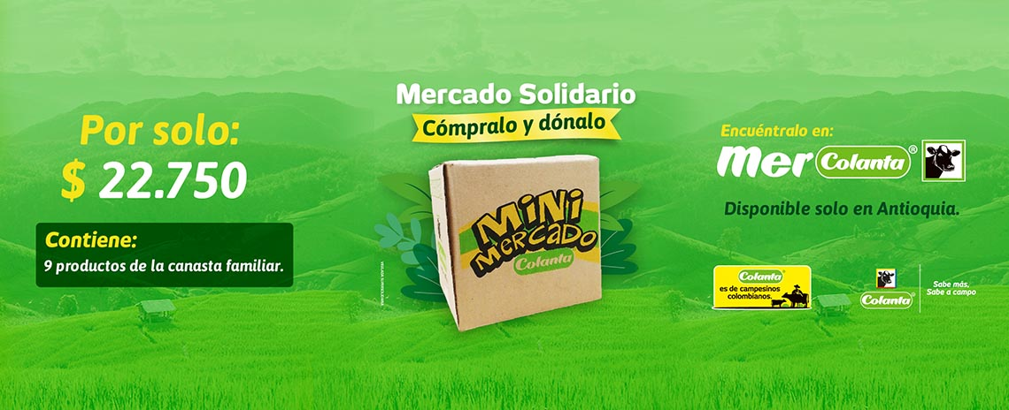 Mercado solidario en Mercolanta