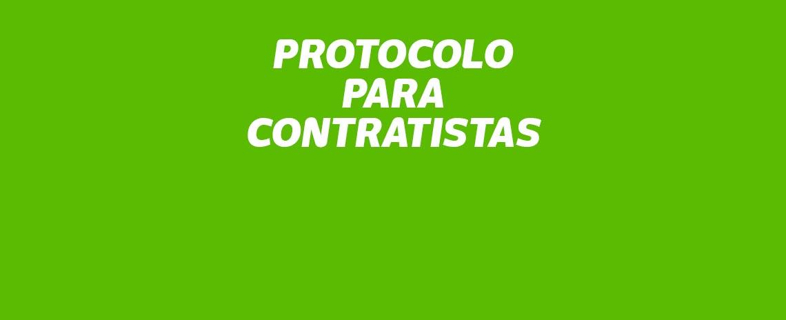 Protocolo para contratistas