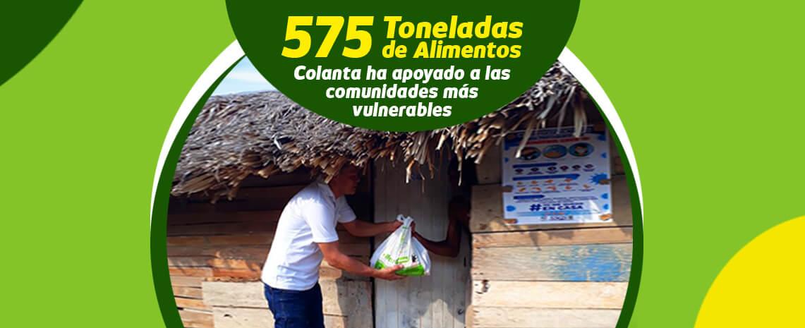 575 toneladas de alimentos ha donado Colanta