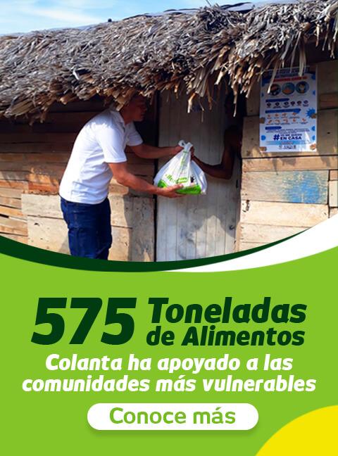 575 toneladas alimentos donacion colanta comunidades