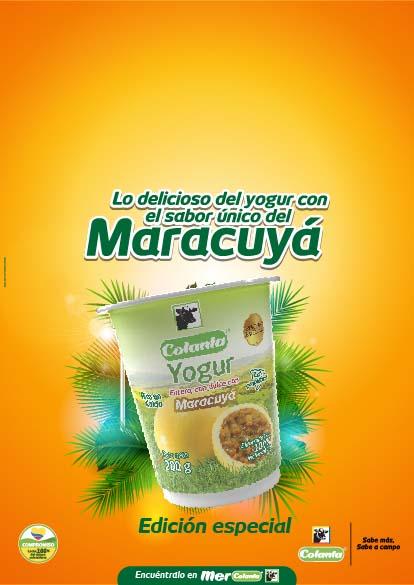 yogur colanta maracuya edicion especial