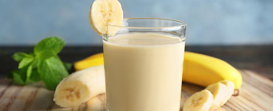 Licuado de banano post entreno con Leche Slight Colanta
