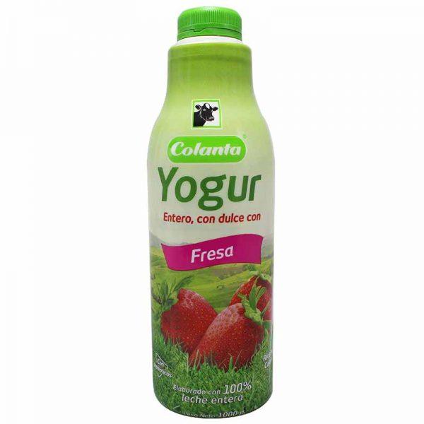 Yogur Colanta Fresa Garrafa 1000g