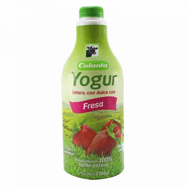 Yogur Colanta Fresa Garrafa 1750g
