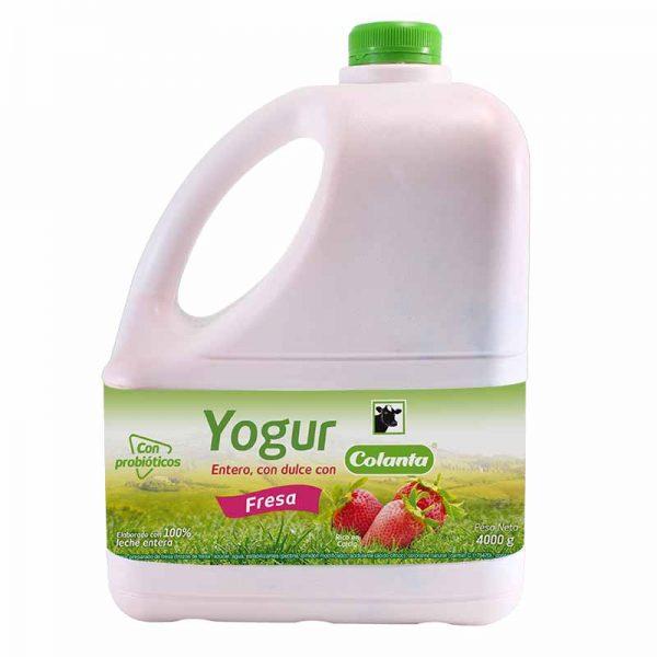 Yogur Colanta Fresa Garrafa 4000g