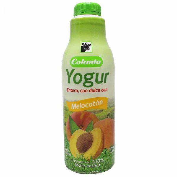 Yogur Colanta Melocoton Garrafa 1000g