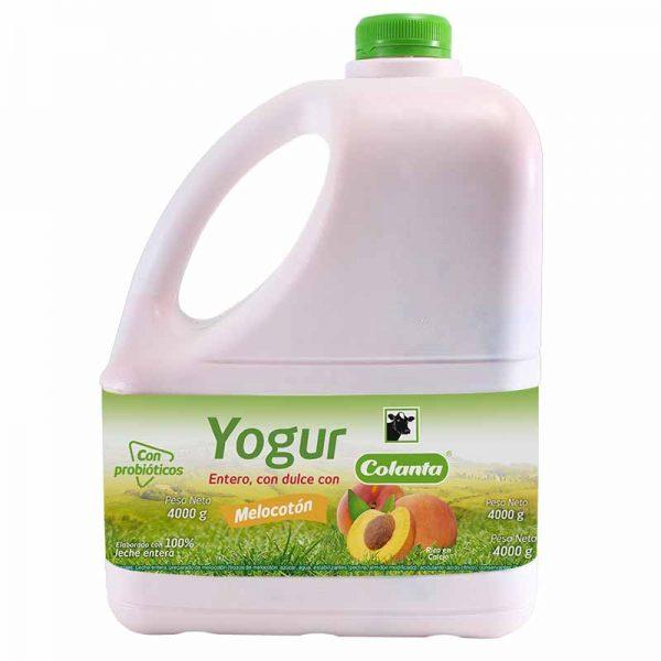 Yogur Colanta Melocoton Garrafa 4000g