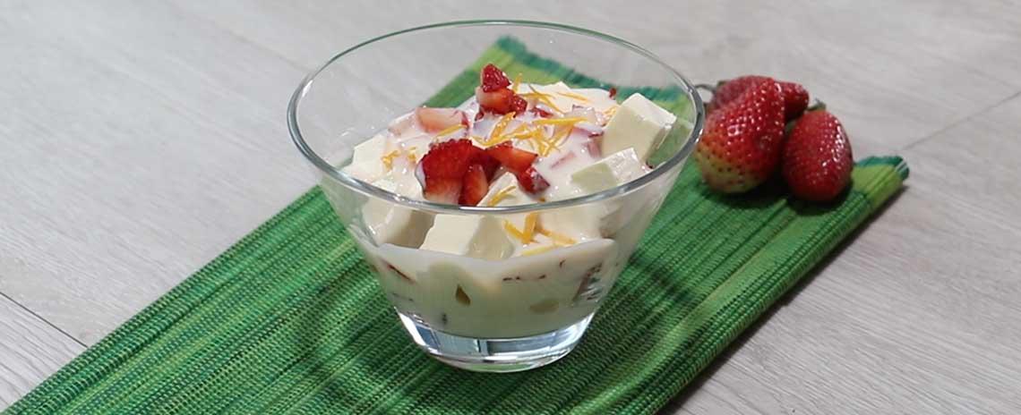 Cuajada con Crema de Avena y Yogur