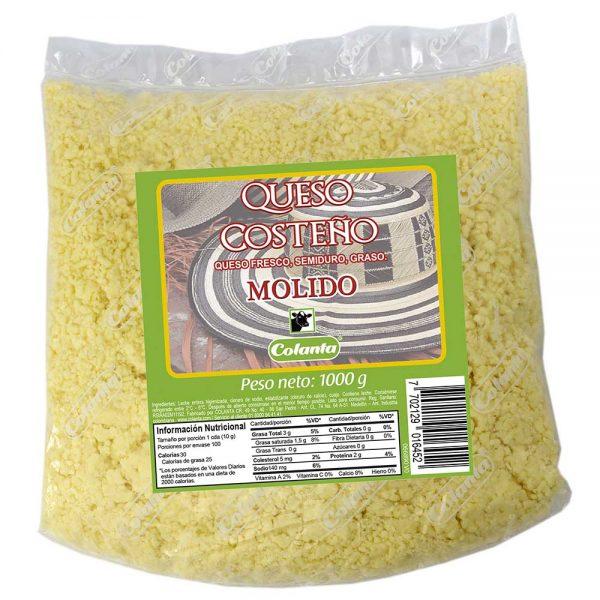 queso costeño colanta 1000 g kilo molido rayado
