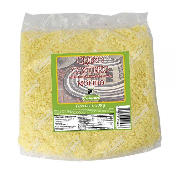 queso costeño colanta 500 g libra molido rayado