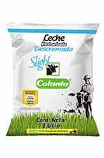 producto leche pasteurizada descremada Slight Colanta