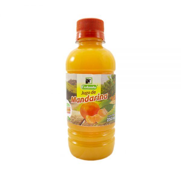 Jugo de mandarina 100% natural. Versión 250 mililitros