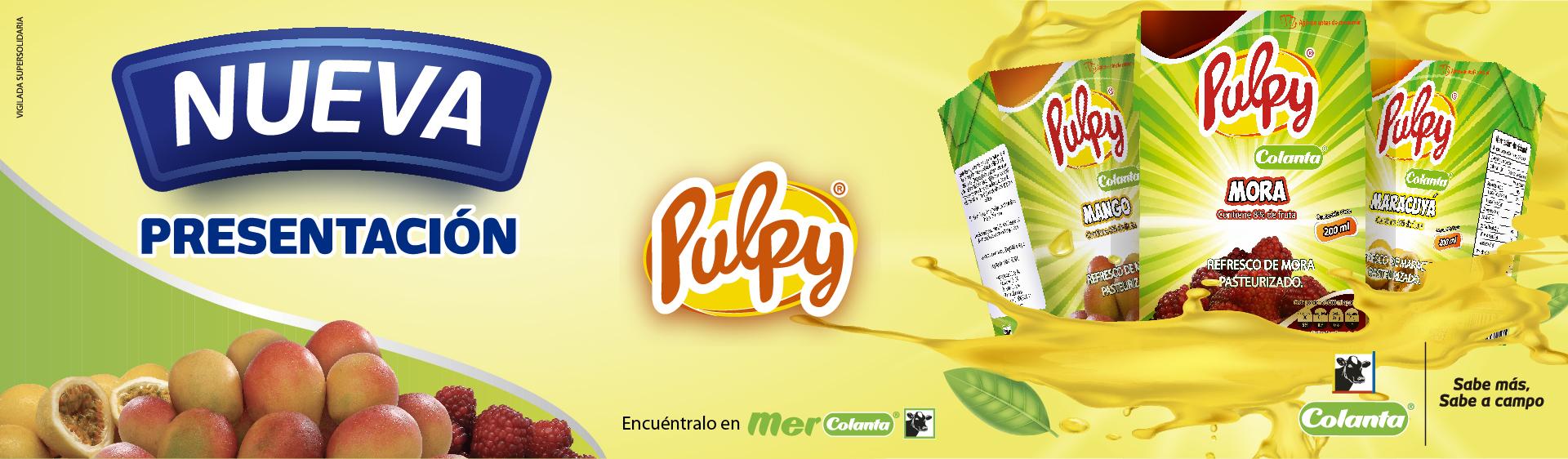 Refrescos de fruta Pulpy | COLANTA