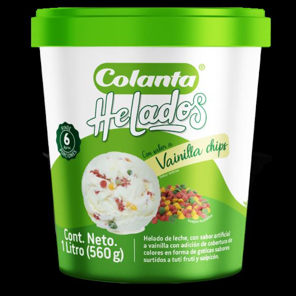 Helado Vainilla Chips | Colanta